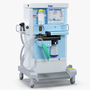 3D anesthesia machine drager primus