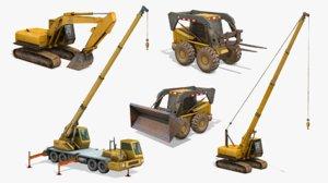 construction vehicles pack 2 3D