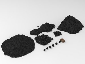 3D coal stone model