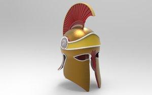 hoplite corinthian helmet - 3D model