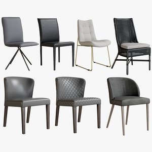 3D realistic dining chair collections