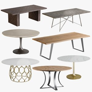 3D realistic dining collections