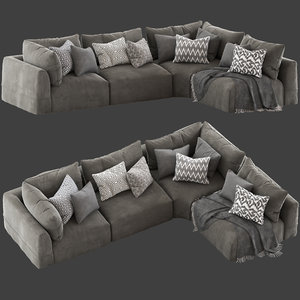 3D model cove seamed sofa