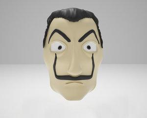 dali mask 3D model