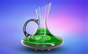 3D wine jug