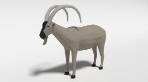 cretan wild goat 3D model