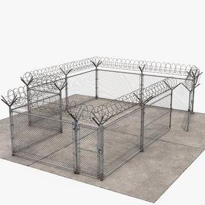3D set wire fence