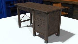 3D vintage desk