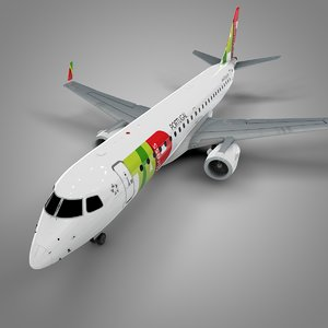 tap express embraer190 l635 3D model