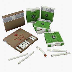 3D asset german cigarettes