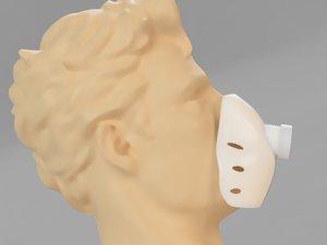 filtro mascherina 3D model