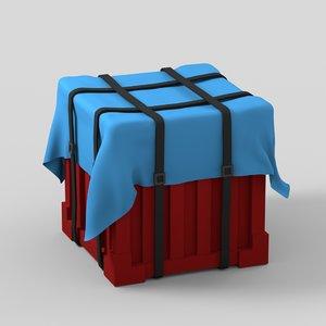 pubg airdrop parachute 3D