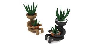 print flower pot 3D model