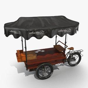 3D food cart model