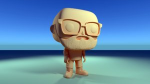 custom pop bald glasses 3D model
