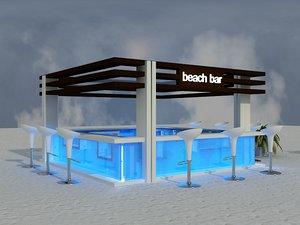 beach bar area 3D model