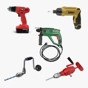 3D hand drills 3 model