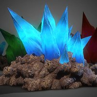 3d Cave Crystals - GAME READY