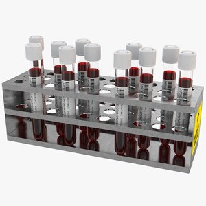 3D model corona virus test tube