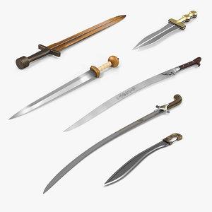 ancient swords 3D model