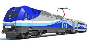 exo train 3D model