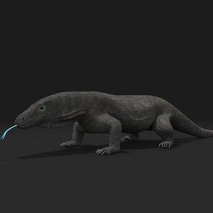 3D komodo dragon model