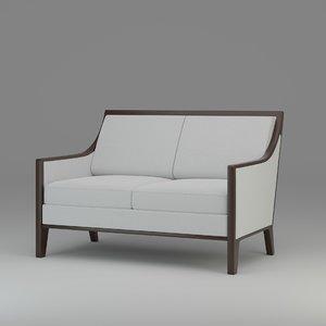 3D model kawalu lucca love seat
