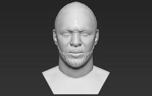 idris elba bust printing 3D model