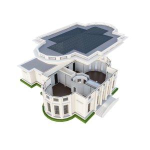 3D classic building interior