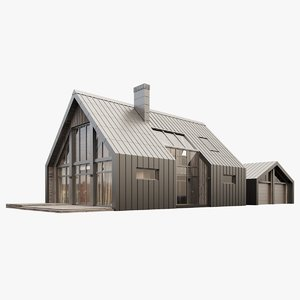 3D barnhouse house