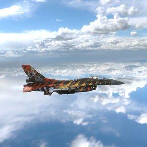 f16 tiger 3D model