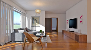 3D modern apartment interior