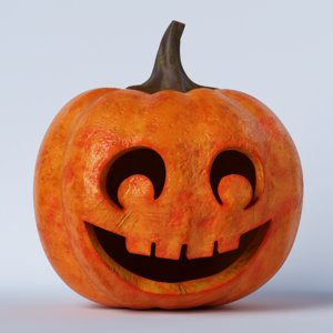 pumpkin face 07 3D model