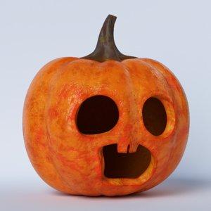3D pumpkin face 08 model
