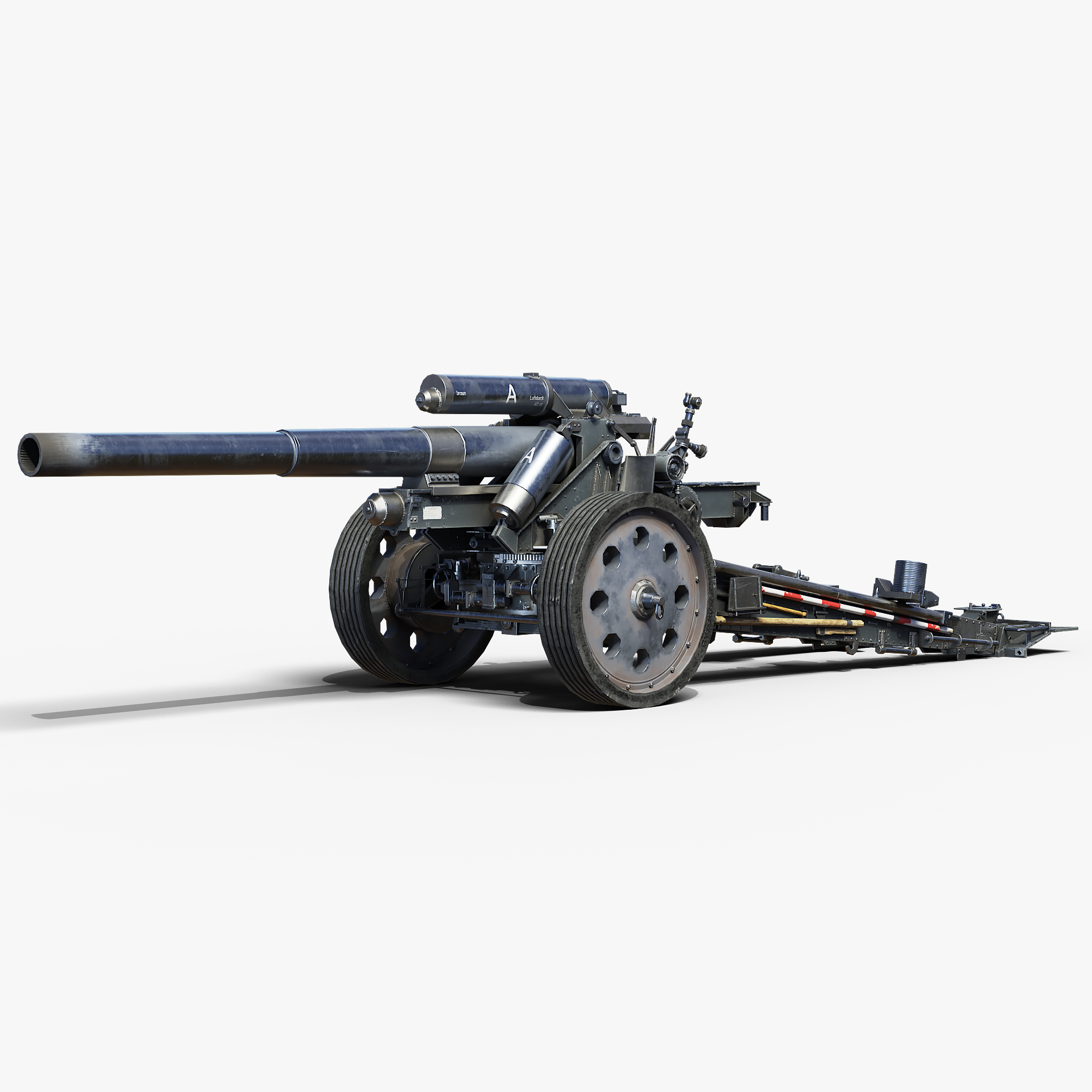 15cm sfh18 howitzer gameready 3D model