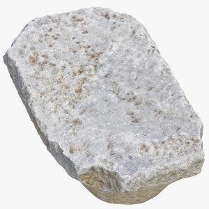 3D stone block 07 model
