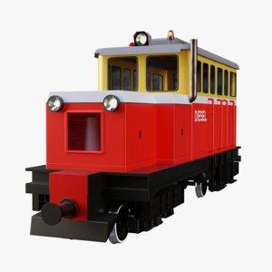 3D railway power plant railroad