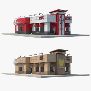 3D fast food restaurants