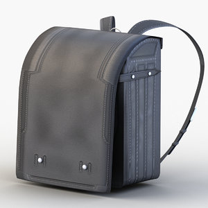 japanese school bag 3D model