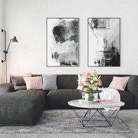 Realistic Scandinavian Style Interior Living Room Corona - V-ray