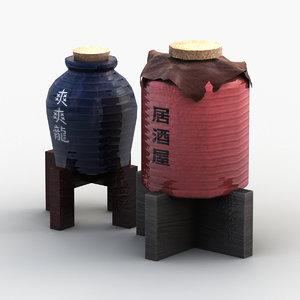 japanese wine 3D