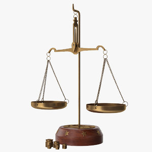 balance scales weights 3D model