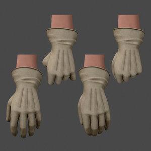 3D gloves male female