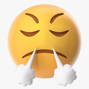 3D mad emoji