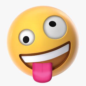 3D zany face emoji