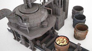 electric arc furnace 3D
