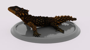 lizard soparla armadillo 3D model
