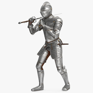 medieval knight plate armor 3D