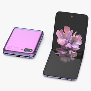 3D model mirror purple samsung galaxy