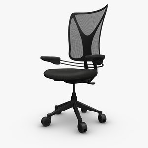 generic ergonomic office chair 3D